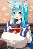 ケーキもぐもぐ