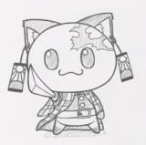 ポジティブ猫ヤミーくん  「竈門炭治郎コス」ラフ