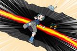 地割れを跳び越すのに失敗したキュルル 2