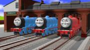 【MMDきかんしゃトーマス】3台のモブ機関車セット【配布あり】