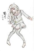 菊月さんとお絵描き練習