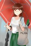 「雨降るから傘持って行きなさいって言ったのに・・・」