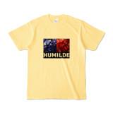 Tシャツ | ライトイエロー | HUMILDE_Blue&Red