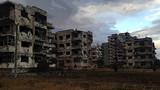 シリアの荒廃した街並み