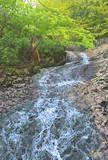 新緑の昇竜滝(あだたら渓谷)