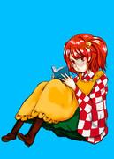 本を読む少女(メガネ)