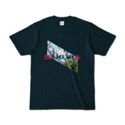 Tシャツ   ネイビー   Slant_SAKURA