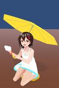 傘とワンピースな綾波