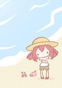 海辺のテトさん