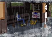 雨宿り833姉貴