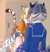 ベッドでキスするルタルビ