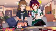 ゲームに熱中する睦月型の長女と末妹