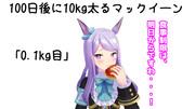 100日後に10kg太るマックイーン(0.1kg)