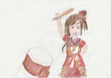 和太鼓を演奏する秩父美祭ちゃん