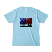 Tシャツ | ライトブルー | HUMILDE_Blue&Red