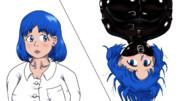 動画用に描いた菖蒲さんとラバー拘束