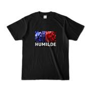 Tシャツ   ブラック   HUMILDE_Blue&Red