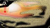 「日脚」※線画・金色・背景黒・おむ09305