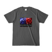Tシャツ | チャコール | HUMILDE_Blue&Red