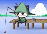 ポジティブ猫ヤミーくん 「釣り スナフキン」