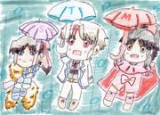 傘持って繰り出そう!