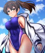 競泳水着な加賀さん