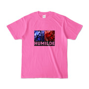 Tシャツ   ピンク   HUMILDE_Blue&Red