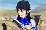 獲物を捕らえた満面の笑みのスナギツネようなアイメリク