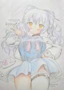 花騎士かわいいおえかき001:ネコヤナギ