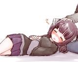 疲れて寝てしまいました