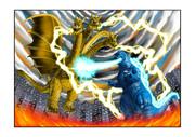 ゴジラ対キングギドラ戦闘