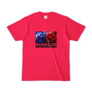 Tシャツ   ホットピンク   HUMILDE_Blue&Red