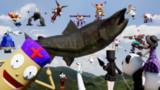【第13回東方ニコ童祭】鮭だぁーーーーーーーー!2 鮭の逆襲 巨大鮭襲来 幻想郷ロボ全機出撃