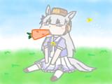 にんじんをたべるゴルシちゃんのイラスト