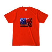 Tシャツ   レッド   HUMILDE_Blue&Red