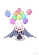 風船でふわふわちびソフィーちゃん