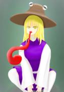 舌が長い洩矢諏訪子