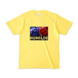 Tシャツ | イエロー | HUMILDE_Blue&Red