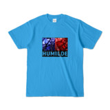 Tシャツ | ターコイズ | HUMILDE_Blue&Red