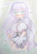 花騎士かわいいおえかき002:ヘザー