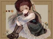 薔薇のヘッドドレス