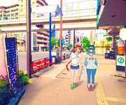 フェニックスとボイシが一緒に基地の外を散歩しているようです。
