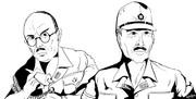 摩文仁の第32軍司令牛島満と長勇参謀長