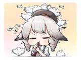笛を吹いてると何故かシマエナガが集まってくる風雲ちゃん