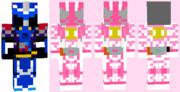 マイクラスキン 仮面ライダースペクター×ブレイズ