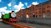 ちっさい機関車とでっかい倉庫