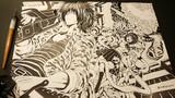 【軍人×女子高生×宇宙人】- オリジナルイラスト 【線画】完成イラスト過去作2020