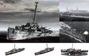 MMD用モブ護衛駆逐艦1944(ジョンCモブラー級サミュエル・B・モバーツ)
