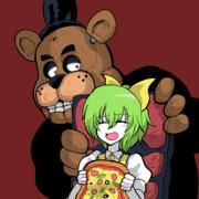 ピザにかぶりつくDIYUSI