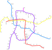 名古屋市営地下鉄の路線図